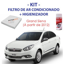 Kit Grand Siena Filtro Ar Condicionado + Spray Higienizador