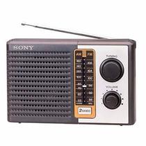 Radio Portatil Sony Am/fm Icf-f10 Novo +2 Pilhas D Brinde!!