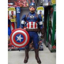 Boneco Articulável Avengers Vingadores Capitão América 30cm