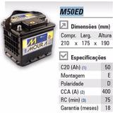 Bateria Moura 50ah Modelo M50ed - Onix, Cobalt, Spin Outros