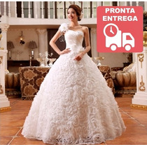Vestido De Noiva Princesa Longo Pronta Entrega - Barato