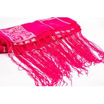 Echarpe Cachecol Lenço Pashmina Xale Pink Kit Com 20 Peças