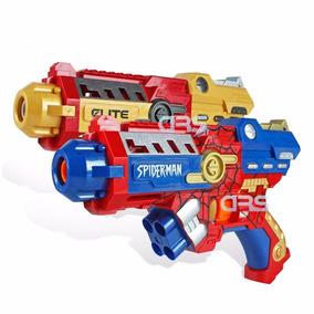 2 Lançador Nerf Pistola Atira Dardos Personagens Grande