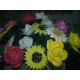 10 Flores En Goma Eva Iguales O Diferentes