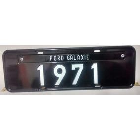 Ford Galaxie 1971 - Placa Preta Decoração