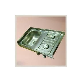 Mesada De Acero Inox Con Anafe 100x40 / Zona Norte