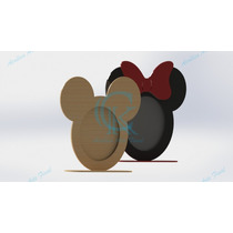 Porta Retrato Mdf Kit 10 Pç Mickey Minnie Oferta