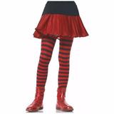 Meia-calça Listrada Preto Vermelho Infantil Leg Avenue 7-10