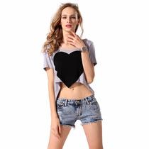 326 Hermoso Top Con Corazon En El Centro Chicas Sexys