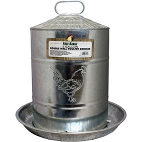 Harris Granjas Llc Pet Doble Pared De Metal Pollo Fuente De