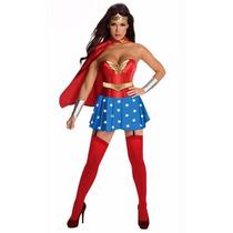 Disfraz Dama Mujer Maravilla Fiesta Halloween Cosplay Lencer