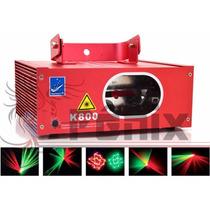 Laser K800 Verde E Vermelho Raios Dmx Ritmico Bivolt Auto