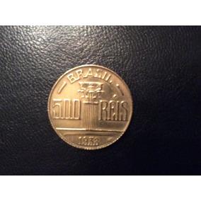 Moeda 500 Réis - 1938 - Feijó - Bronze Alumínio - Mbc/sob