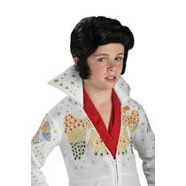 Disfraz Niño Traje De Elvis Peluca Rubie Para Niños