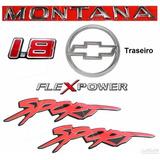 Emblema Montana + Adesivos 1.8 Flex Sport + Mala - 2003 À 06