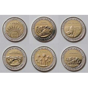 Moneda Bicentenario Sin Circular 1 Peso Lotex 5 1810 - 2010