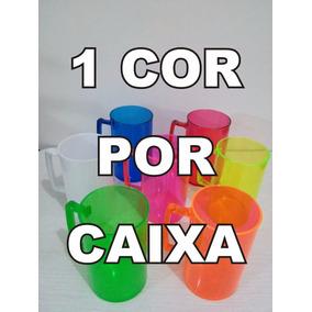 Caneca De Chopp Acrílico Coloridas/lisa 100 Unidades 300ml