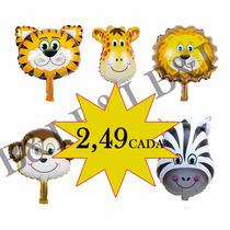 Balão Metalizado Safari Animais Centro De Mesa Frete 10,00