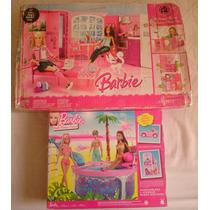 Casa Da Barbie Pink My House 2009 Com Piscina