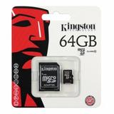 Cartao Memoria Kingston Micro Sd 64gb Sd + Adaptador Sd
