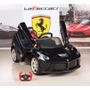Carrito Electrico Ferrari Puertas Mp3 Control Remoto 12v