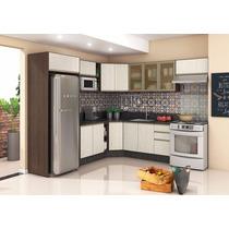 Cozinha Modulada Kali 100% Mdf Balcão Armário Basculante