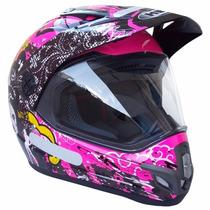 Capacete Helt Cross Vision Pink/ Rosa C/ Nf Tam: 58/60