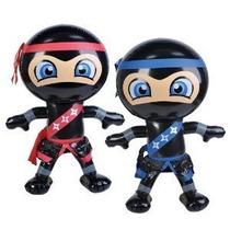 Juego De 2 Inflables 24 Ninjas / Decoración De Fiesta / Inf