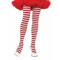 Meia-calça Listrada Vermelho E Branco Leg Avenue Cosplay