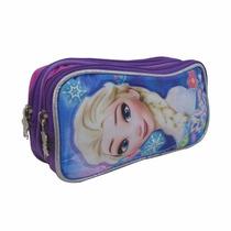 Lapicera Estuche Escolar Niña Frozen Ana Elsa Disney 110260