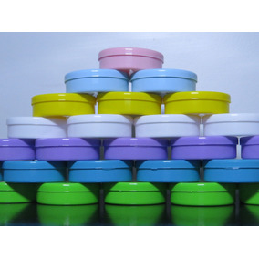 50 Mini Latinhas Mint To Be Plástica Lembrancinha Coloridas