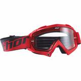 Óculos Thor Enemy Vermelho Transparente Motocross Trilha