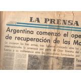 Diario La Prensa 2 De Abril De 1982 - Islas Malvinas