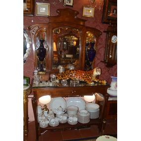 mueble toilette dressoire antiguo aos roble art nuveau