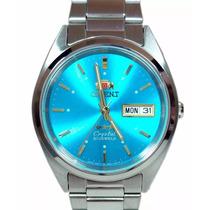 Orient Fundo Azul Automatico 21 Jewels - Cristal 3 Estrelas