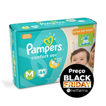 Fraldas Pampers Confort Sec M - Mega