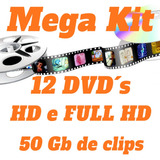 Aberturas E Backgrounds Para Edição De Video - 12 Dvd´s