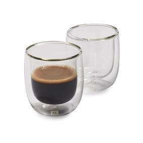 2 Copos Vidro Espresso Sorrento Parede Dupla 80ml - Zwilling