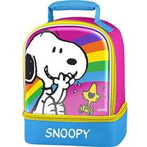 Lonchera Snoopy Rosa/celeste - Blakhelmet Nsp