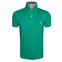 Camisa Polo Brooksfield Verde Lisa Original + Frete Grátis