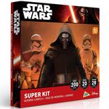 Star Wars Super Kit Quebra Cabeca 200 Pecas + Memoria + Domi