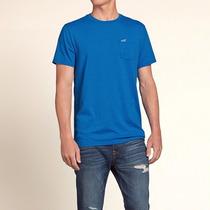 Camiseta Hollister Surf Masculina Azul Nova Original Bolso