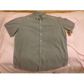 Camisa 2xl Tall Gris Acero Tallas Extra Para Caballero