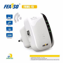 Repetidor De Sinal Wireless 300mbps Feasso Ref:8190