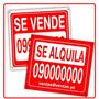 Cartel Se Vende Se Alquila 60 X 90 Valido Hasta 18/03