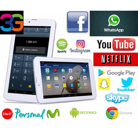 Tablet Android Pc 7 3g Wifi Hd Blue Liberada Gps Doble Sim