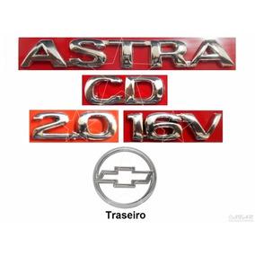 Emblemas Astra Cd 2.0 16v + Mala - 99 À 02 - Modelo Original
