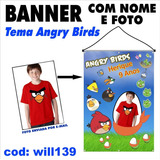 Banner Simples Personalizado Infantil Angry Birds Will139