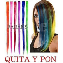 Extensiones De Colores Quita Pon Extension Mechones Cabello