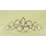 Tiara Coroa Princesa Noivas Festa Com Strass Debutantes 14 P